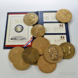 Group of Presidential Commemorative and Judaic Medals