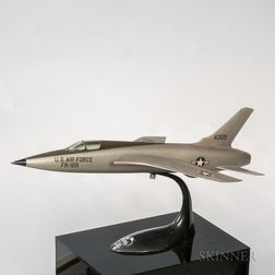 USAF Republic FH-105 Thunderchief Display Aviation Model with Display Plinth