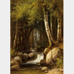 Benjamin Champney (American, 1817-1907)      River Birches