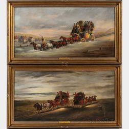 John Charles Maggs (British, 1819-1896)    Set of Six Coaching Scenes