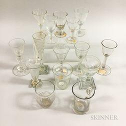 Fifteen Early Blown Glass Wines