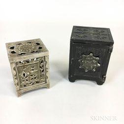 Two Cast Metal Safe-form Still Banks