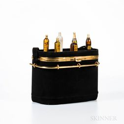 Anne-Marie Black Suede Minibar Handbag