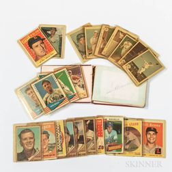 Group of 1950s Baseball Cards