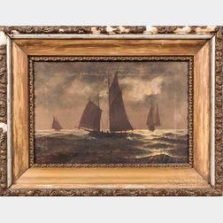 American School, Early 20th Century      Moonlit Sailing