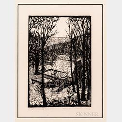 Wharton Harris Esherick (American, 1887-1970)      Diamond Rock Hill