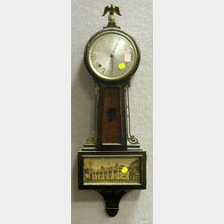 Sessions Mahogany George Washington Banjo Wall Timepiece.