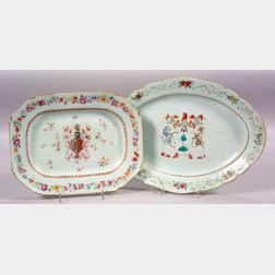 Two Chinese Export Armorial Porcelain Dishes