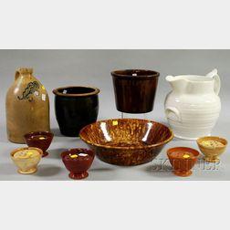 Ten Pieces of Assorted American Glazed Ceramics