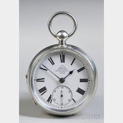 Dent Silver Open Face Watch