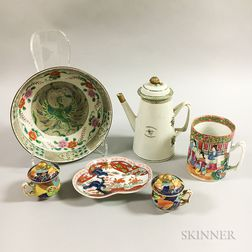 Six Chinese Export Porcelain Tableware Items.