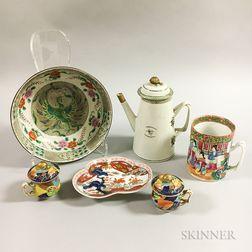 Six Chinese Export Porcelain Tableware Items.     Estimate $200-300