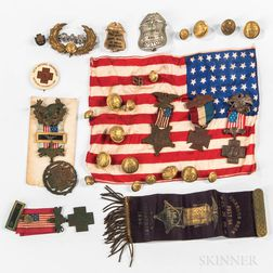 Group of G.A.R. and Spanish American War Veterans' Items