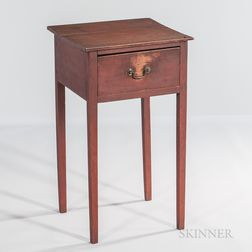 Federal Cherry Red-painted One-drawer Stand