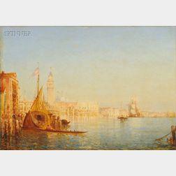 Félix Francois Georges Philibert Ziem (French, 1821-1911)      Le Palais des Doges, vu du canal della Grazia