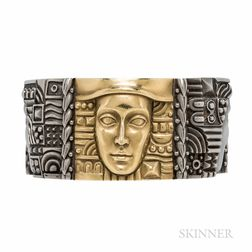 "Kieselstein-Cord ""Women of the World"" 18kt Gold and Stainless Steel Bracelet"