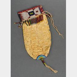 Central Plains Beaded Hide Bladder Bag