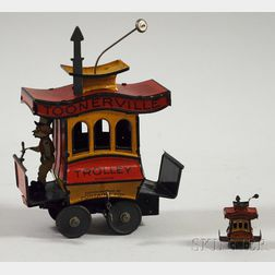 Toonerville Trolley Toy with the Miniature Version