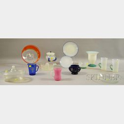 Fourteen Mostly Early 20th Century Art Glass Items