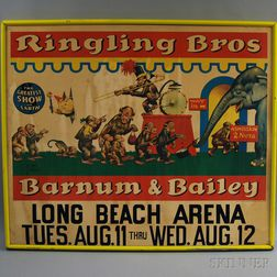Framed Ringling Brothers/Barnum & Bailey Poster