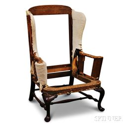 Queen Anne Mahogany Easy Chair