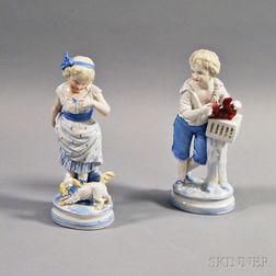 Pair of German SPM Porcelain Figures