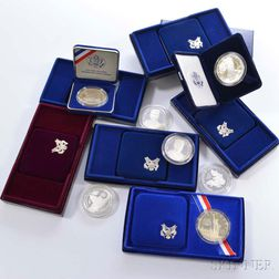 Twelve Cased Commemorative Coins