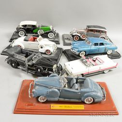 Fourteen Detailed Diecast Model Cars
