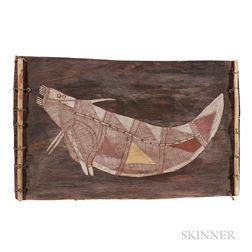 "Bardayal ""Lofty"" Nadjamerrek (Kunwinjku Aboriginal, c. 1926-2009) Bark Painting"