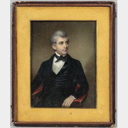 Anglo-American School, Early 19th Century      Miniature Portrait of a Gentleman