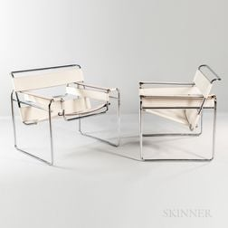"Two Marcel Breuer for Knoll International ""Wassily"" Chairs"