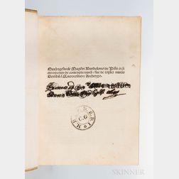 Bartholomaeus Pisanus (fl. circa 1350) Quadragesimale Magistri Bartholomei de Pisis Ordinis Minorum de Contemptu Mundi.
