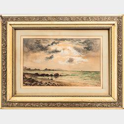 American School, Late 19th Century      Beach Landscape