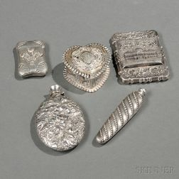 Five Small American Silver Items