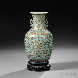 Gilt and Enameled Vase