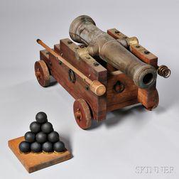 Reproduction U.S. Model 1776 2-pound Cannon