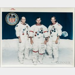 Apollo 16, Prime Crew and Pre-flight, Seven Photographs, Early 1972.