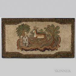 Shirred Deer Rug