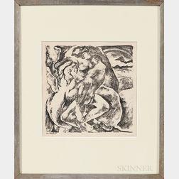 Willy Jaeckel (German, 1888-1944)      Lovers