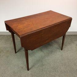 Federal Cherry One-drawer Drop-leaf Table