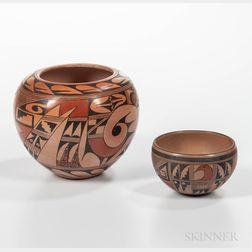 Two Contemporary Hopi Pottery Jars