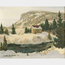 Harold Beamont (Canadian, 20th Century)  Winter Near St. Sauveur