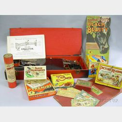 Group of 1920s and 1930s Children's Games and Books