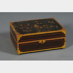 Paint and Gilt Decorated Pine Box