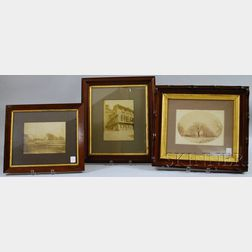 Three Framed New England Albumen Photographic Views
