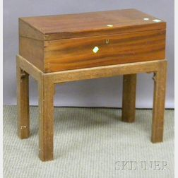 Chippendale-style Mahogany Lap Desk on Stand