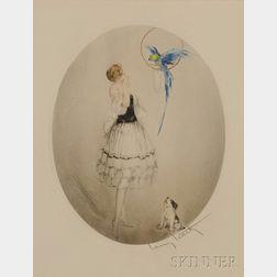 Louis Justin Laurent Icart (French, 1888-1950)      Perroquet Bleu