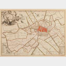 Utrecht. Caspar Specht (c. 1654-1710) Caerte Vande Vryheyd de Stadt Utrecht