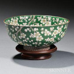 Green-enameled Bowl