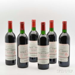 Chateau Lynch Bages 1986, 6 bottles